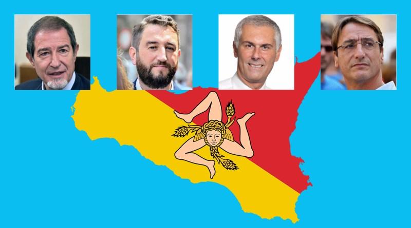 I quattro candidati favoriti nei sondaggi per le elezioni regionali Sicilia 2017