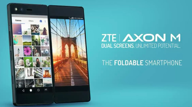 ZTE Axon M, lo smartphone con doppio schermo reclinabile