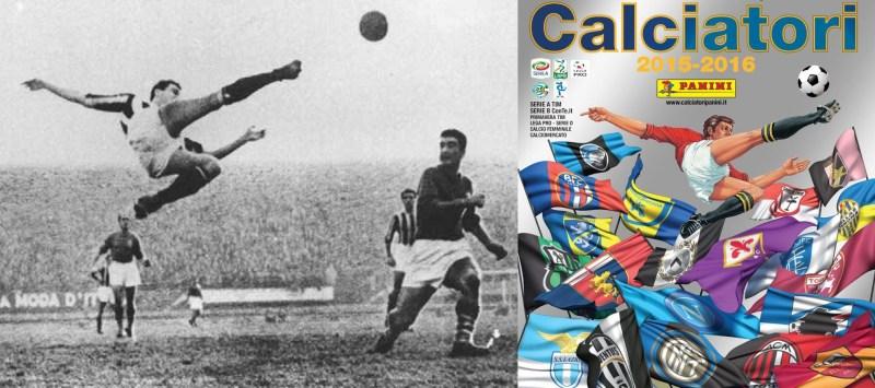 Il logo della raccolta delle figurine dei calciatori della Panini è ispirato al gesto atletico di Carlo Parola durante un Fiorentina-Juventus del 15 gennaio 1950