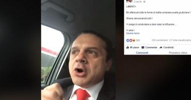 """Cateno De Luca, dopo la revoca degli arresti domiciliari, posta un video su Facebook: """"Sono libero e ora denuncio tutti"""""""