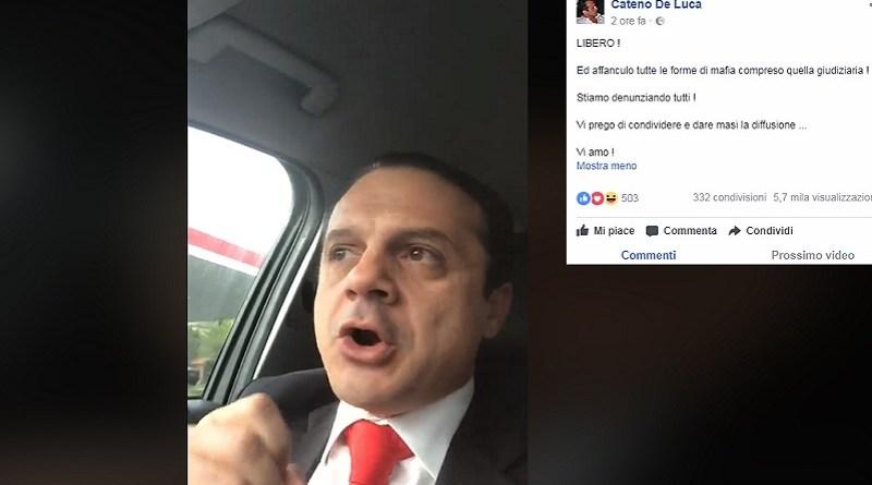 """De Luca sempre più scatenato: """"Sono libero, denuncio tutti"""" – IL VIDEO"""