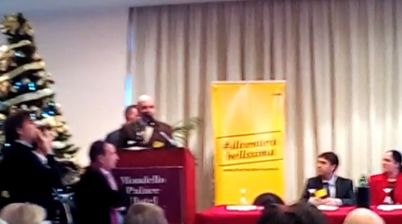 L'intervento di Fabio Cocchiara durante il Congresso Regionale di Diventerà Bellissima, che si è svolto all'interno del Mondello Palace Hotel, a Palermo
