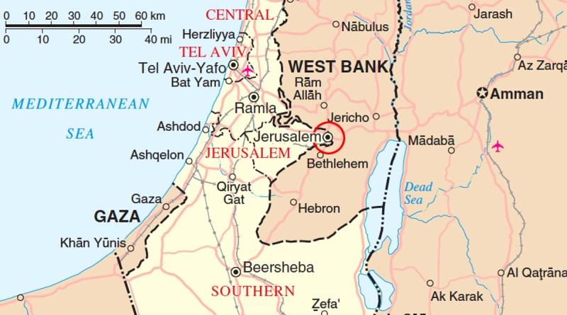 Gerusalemme e i confini tra Israele e Palestina