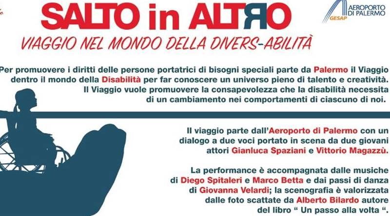 """Parte dall'aeroporto di Palermo il """"Viaggio dentro il mondo creativo delle abilità speciali"""""""