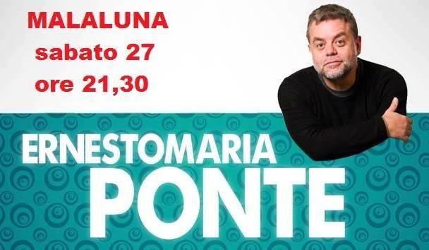 Il ritorno di Ernesto Maria Ponte al Malaluna di Palermo