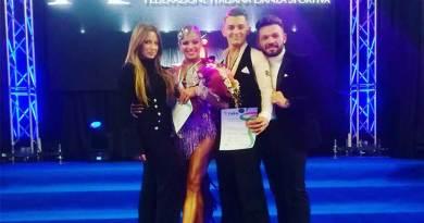 Due ballerini della Asd Universal Dance campioni italiani