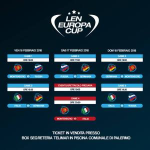 Len Europa Cup di Pallanuoto a Palermo