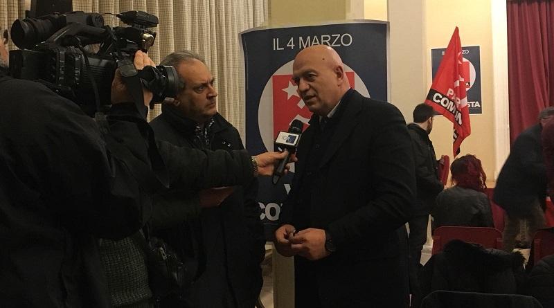 """Il Partito Comunista a Palermo presenta programma elettorale e candidati. Marco Rizzo: """"Renzi parla di salario minimo solo perché sa di perdere"""""""