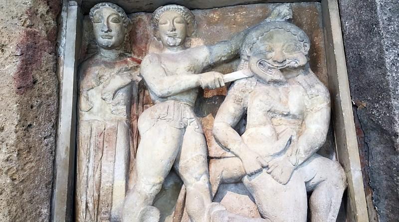 Museo Archeologico Salinas, metopa del Tempio di Selinunte