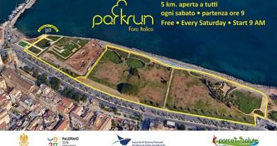 Foro Italico ParkRun Salute, sport e solidarietà con gli eventi organizzati il prossimo sabato, 12 maggio, al Parco della Salute, al Foro italico di Palermo