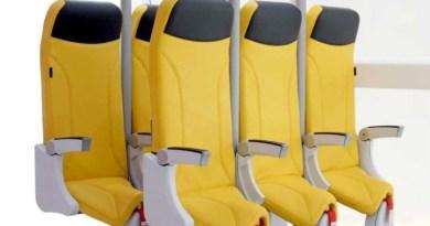 Sedili a forma di sella per voli in aereo super low cost