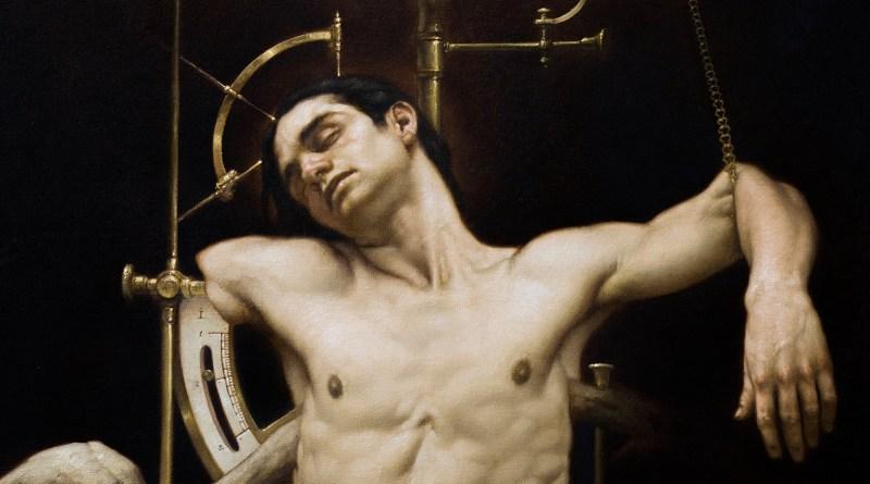 Schiavo dell'ombra, olio su tela di Roberto Ferri