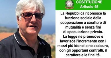 Michele Cappadona, presidente Agci Sicilia, su articolo 45 della Costituzione Italiana