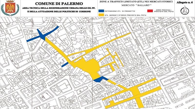 Ritornano le pedonalizzazioni a Palermo. Sessanta tra vie, piazze e vicoli nelle zone dei mercati storici cittadini saranno interessate da una limitazione della circolazione veicolare