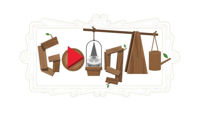 Goolge dedica un doodle interattivo in cui si puòarredare con un mini gioco il proprio spazio verde alla Festa dei nani da giardino