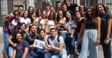 Quinta O del liceo scientifico Cannizzaro, ultimo giorno di scuola, 9 giugno 2018