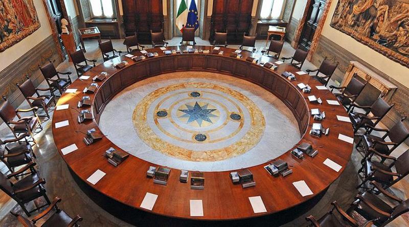 Sala del Consiglio dei Ministri, Palazzo Chigi