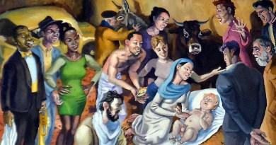 Particolare della Natività di Alessandro Bazan