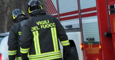 incendio profumeria via Alcide De Gasperi Palermo