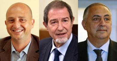 Mimmo Turano, Nello Musumeci, Roberto Lagalla