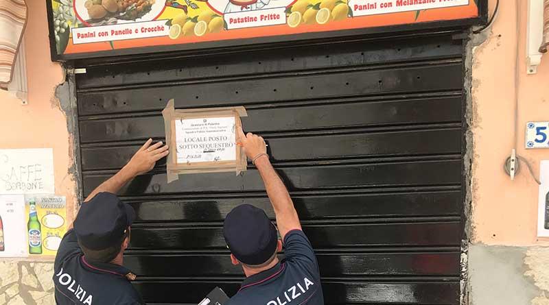 Abusivismo commerciale, controlli a Ballarò: sigilli a centro scommesse e negozio di alimenti