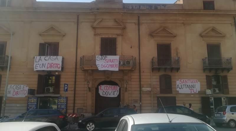 Palermo, case occupate in corso Pisani: sul posto le forze dell'ordine