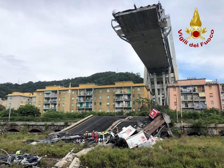 Ponte Morandi crollato a Genova