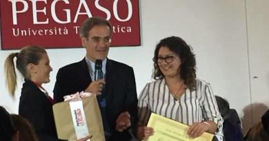 Giuliana Puma, premiata a Palazzo Mazzarino