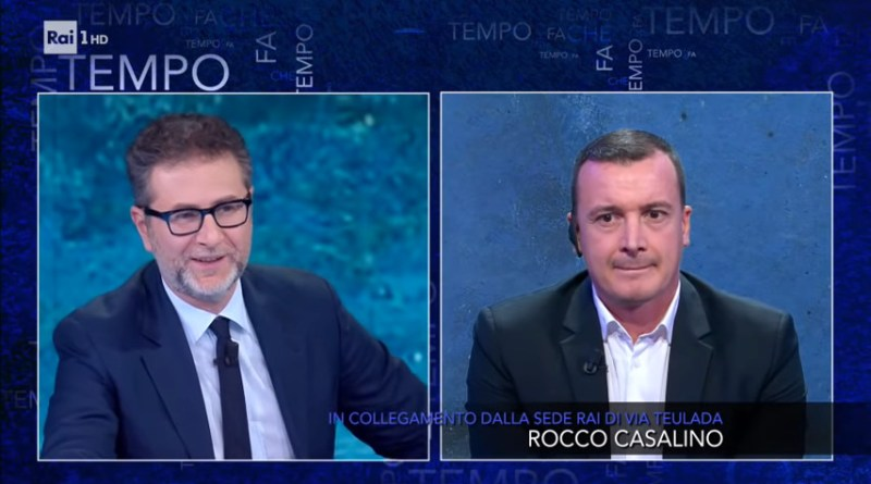 Fabio Fazio e Rocco Casalino