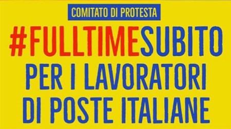 #FullTimeSubito per i lavoratori di Poste Italiane