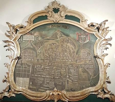 """""""Ritratto di città"""" di Mazzarino, in provincia di Caltanissetta, che si trova a Palazzo Butera a Palermo"""
