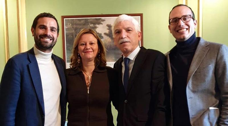 I consiglieri di Forza Italia Ferrara, Cancilla, Tantillo e Mineo