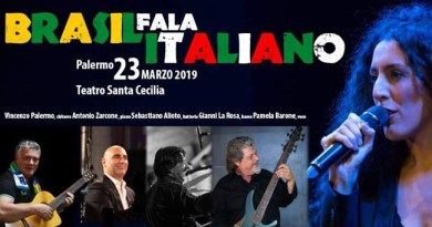 """Da un'idea di Sebastiano Alioto, """"Brasil fala Italiano"""" al Real Teatro Santa Cecilia di Palermo"""