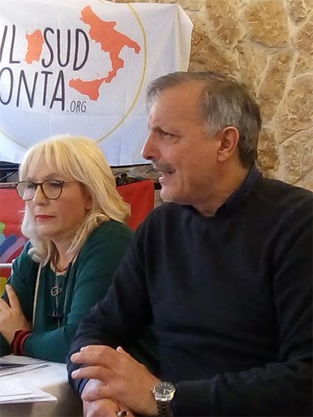 Rosy Lisitano (USB Sanità Messina) e Franco Nobile (responsabile USB Sicilia)