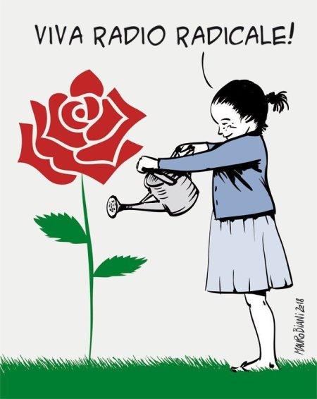 Radio Radicale, vignetta di Mauro Biani