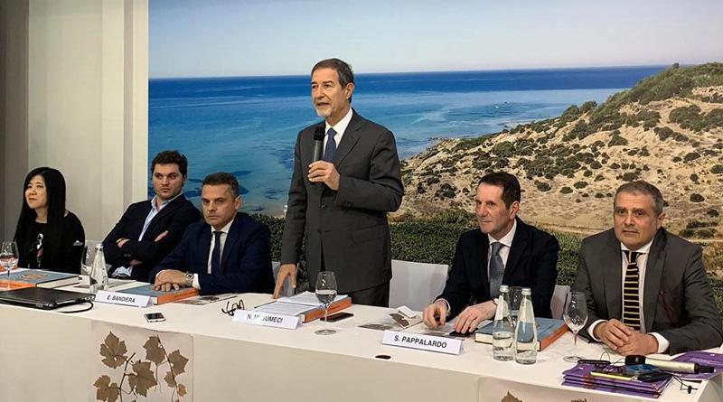 53 Vinitaly inaugurazione padiglione Sicilia