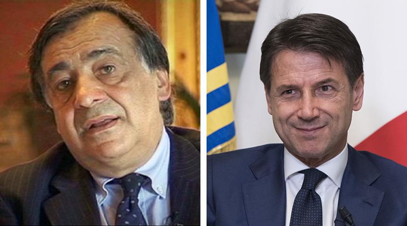 Leoluca Orlando e Giuseppe Conte