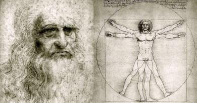 Leonardo da Vinci e l'uomo vitruviano