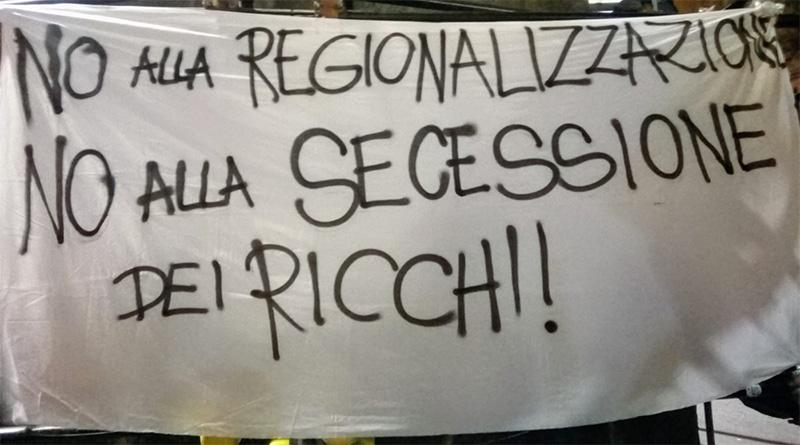 No alla regionalizzazione