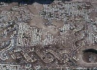 mosaico trovato nel corso degli scavi archeologici a Rammacca (CT)