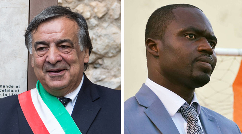 Leoluca Orlando e Ibrahima Kobena