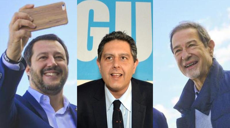 Matteo Salvini, Giovanni Toti, Nello Musumeci