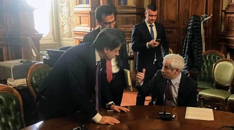 Giuseppe Conte e Aldo Penna