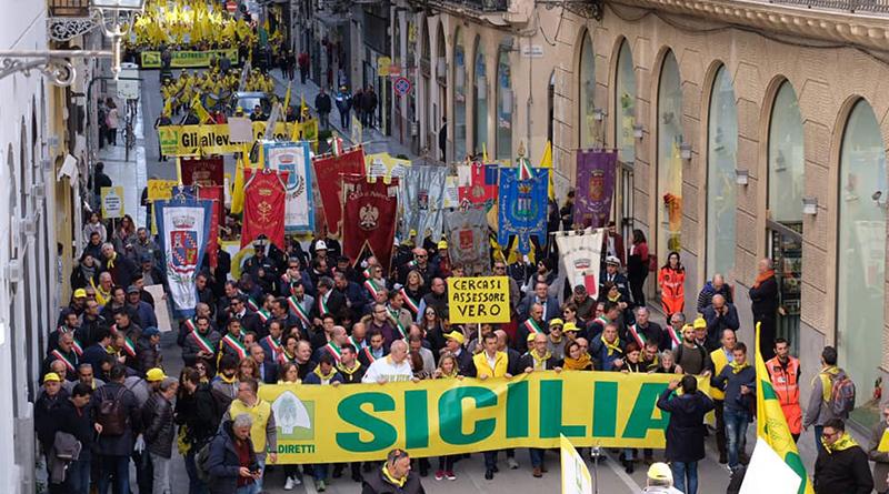 manifestazione Coldiretti Palermo