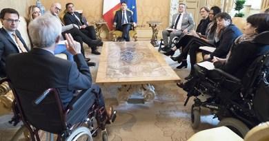 Intergruppo parlamentare Disabilità incontra il Presidente del Consiglio e i rappresentanti di FISH e FAND