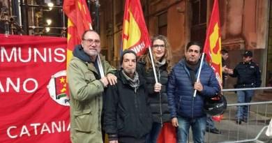 Ieri presidio a Catania contro la guerra. USB unico sindacato presente