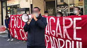 Manifestazione di fronte sede Confindustria Catania