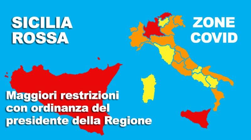 Sicilia zona rossa con maggiori restrizioni