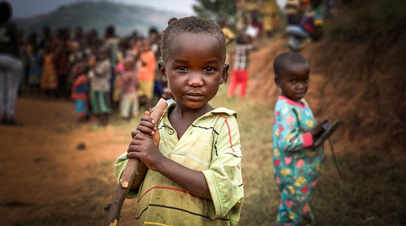 Bimbo nero Ruanda