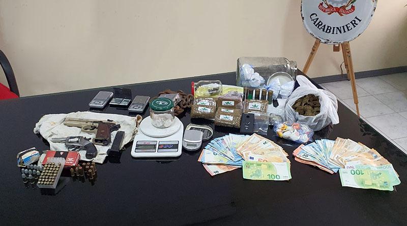 sequestro armi droga denaro arresto Pincio Carabinieri